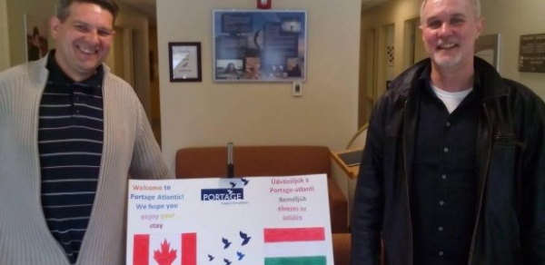 Addiction centre in Hungary visits Cassidy Lake to learn from the Portage model